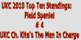 UKC 2010 Top Ten Standings: Field Spaniel  # 4 UKC Ch. Kita's The Man In Charge